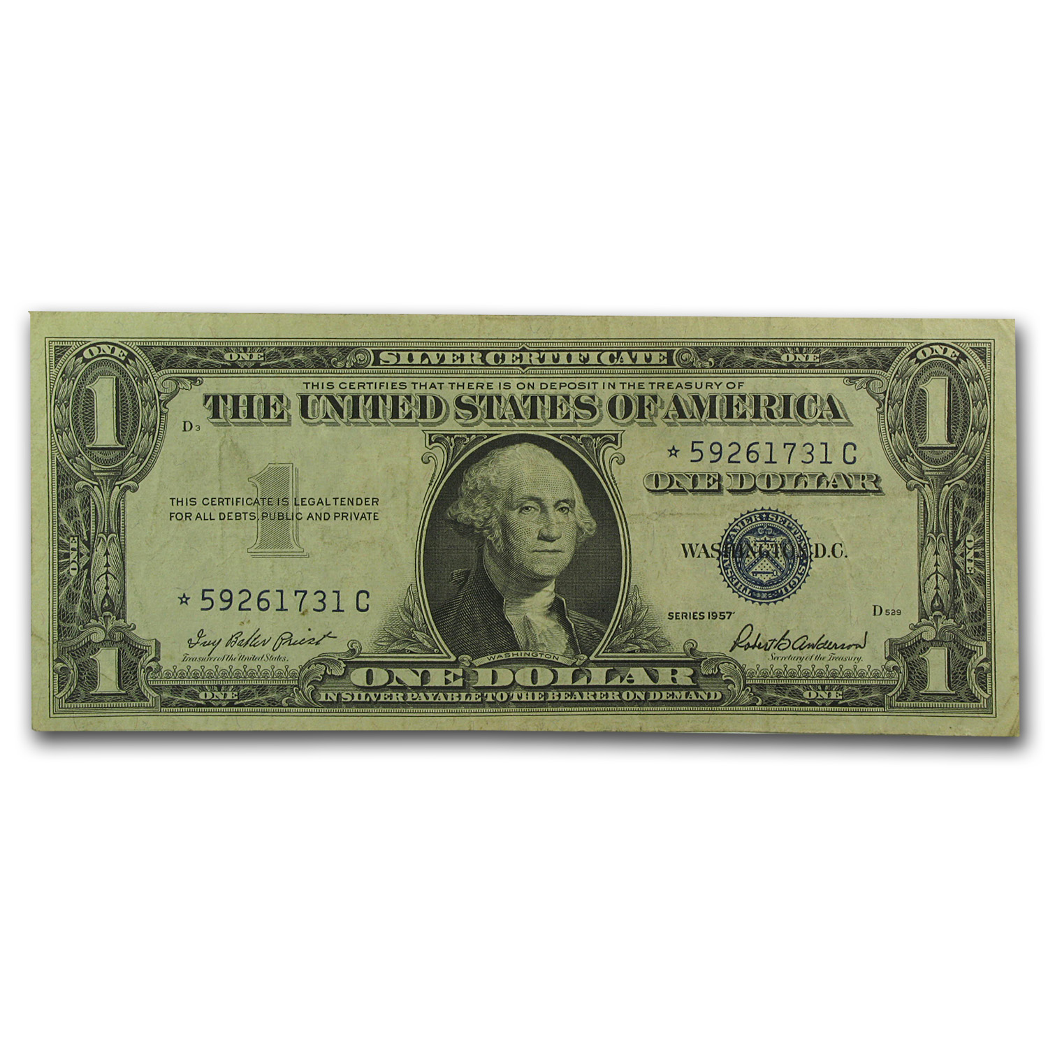 1957's* $1 Silver Certificates (VG-VF) - Star Note